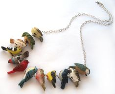 Birds of a Feather Necklace by sudlow on Etsy, $65.00
