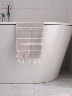 Hammam handdoek 100x50 Ottomania grijsbeige