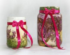 Homemade decorative jar container for jewelry by Skygriffin