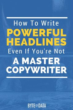 Here's How To Write Powerful Headlines - Even If You're Not A Master Copywriter. Includes free resource guide to download. via @davidhartshorne