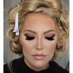 Gorgeous bridal makeup. Come stop by Top Level Salon for this look. #TopLevelSalon @toplevelsalon ig and FB