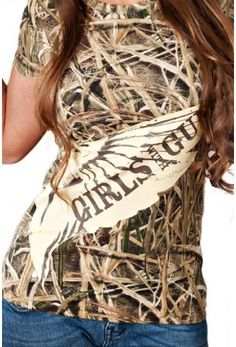Mossy Oak Blades Duck Tee | Shirts | Girls with Guns Clothing