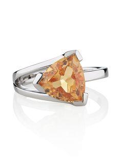 Valentine Citrine Sterling Silver Ring