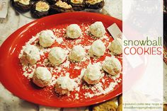 Snowball Cookies  {with printable recipe card}, #HolidayBaking, #cookies, #cookie