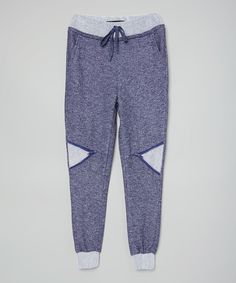 Look at this #zulilyfind! Miss Jeans Navy French Terry Sweatpants - Toddler & Girls by Miss Jeans #zulilyfinds