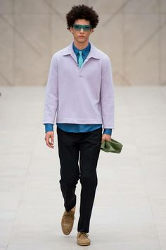 Pastels and layering at Burberry Prorsum Mens Spring 2014