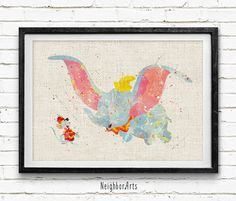 Hey, I found this really awesome Etsy listing at https://www.etsy.com/listing/244893300/disney-dumbo-watercolor-art-print-baby