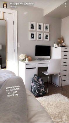 48 idées de chambres de filles mignonnes pour les petites pièces 45 #bedroomideas #petites salles 48 idées de chambres de filles mignonnes pour les petites pièces 45 #bedroomideas #petites salles #Gris #Gris #Simple #Confortable # #Blanc #Noir #Sombre