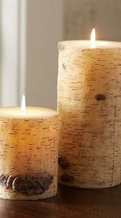 Painted Birch Candles
