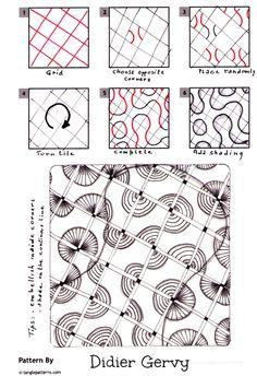 How to draw CORNERZ by Didier Gervy « TanglePatterns.com