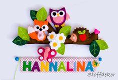 Türschild fürs Kinderzimmer aus Filz und Stoff von Stoffdekor auf DaWanda.com