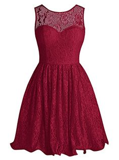 Tideclothes Short Lace Bridesmaid Dress Cute Bowtie Prom Evening Dress Dark Red US2 Tideclothes http://www.amazon.com/dp/B01A0LAOLS/ref=cm_sw_r_pi_dp_8IQNwb0PG7KMX