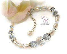 Bridal Bracelet, Bridal Jewelry, Prom Jewelry, Something Blue, Something Blue Bracelet, Bridal Shower Gift, Gift for Bride, Wedding