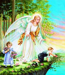 The Angel MOM with Kids - Diamond Painting - PaintingsCart Guardian Angel Images, Your Guardian Angel, Angel Protector, Catholic Herald, Angel Wallpaper, Padre Celestial, Miracle Prayer, Angel Prayers, I Believe In Angels