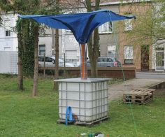 We are students industrial design and for the past 2 weeks we have been building a rain harvesting system. Our client is a community with a public gar...