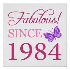 Fabulous Since 1984 Print #30 #30th #30thbirthday