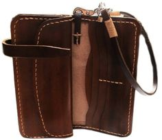 BIKER / TRUCKER GENUINE COW LEATHER CLUTCH WALLET