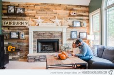 pallet wall----eclectic living room by Ashley Anthony Photography Pallet Home Decor, Pallet Furniture, Home Furniture, Furniture Ideas, Bedroom Furniture, Table Palette, Palette Deco, Eclectic Living Room, Living Room Designs