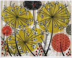 Printmaker Angie Lewin creates limited edition artist prints in a variety of printmaking techniques - lino print, wood engraving, screen print and lithography. Angie Lewin, Nature Prints, Wood Engraving, Illustrations, Print Patterns, Fabric Patterns, Screen Printing, Scrapbooking, Inspiration