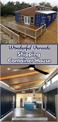 Wonderful Veranda Shipping Container House - USA - Living in a Container Cargo Container Homes, Shipping Container Home Designs, Building A Container Home, Container Buildings, Container Architecture, Container House Plans, Container House Design, Shipping Containers, Sustainable Architecture