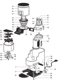 Gaggia Evolution - Parts Diagram Coffee Menu, Espresso Coffee, Coffee Cafe, Coffee Machine, Espresso Machine, Coffe Maker, Coffee Industry, Cafe Branding, Food Tech
