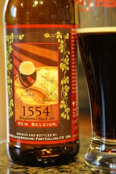 My Favorite Beer: New Belgium's 1554. Tasty black beer with a hint of chocolate from Fort Collins, Colorado's ace brewing company.