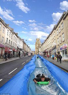 Giant Water Slide by Luke Jerram