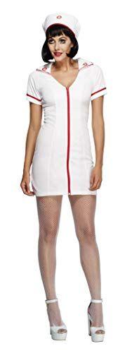 TecTake dressforfun Costume pour Femme Infirmi/ère L | 301416 Y Compris Coiffe Fermeture /éclair sur Le Devant de la Robe
