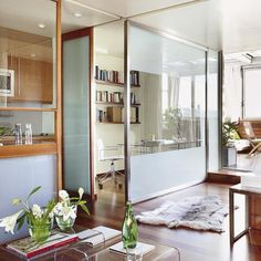 modern interior design for small spaces, apartment with space dividers