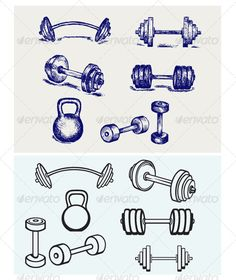 Dumbbells Icons - Sports/Activity Conceptual