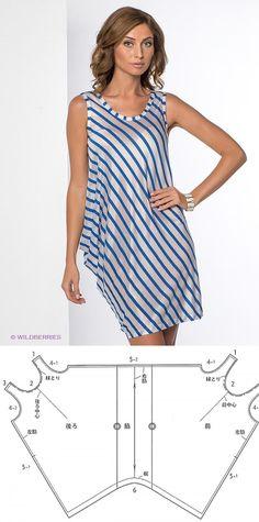 Шитье | простые выкройки | простые вещи.Платье-майка асимметричного кроя - моделирование.