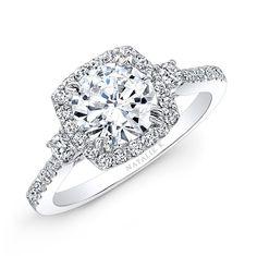 14k+Diamond+Halo+Three+Stone+Diamond+Engagement+Ring++-+14k+Diamond+Halo+Three+Stone+Diamond+Engagement+Ring+