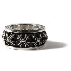 CHROME HEARTS Ring (14.009.660 IDR) ❤ liked on Polyvore featuring jewelry, rings, accessories, goth rings, gothic rings, leather jewelry, engraved jewellery and cross ring Engraved Jewelry, Engraved Rings, Chrome Hearts Ring, Stackable Birthstone Rings, Gothic Engagement Ring, Gothic Rings, Jewelry Rings, Jewellery, Gothic Fashion