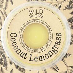 Wild Wicks Coconut Lemongrass Wildpod Soy Melt