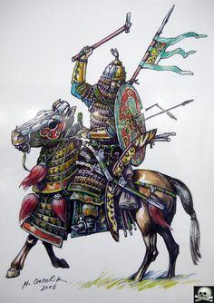 Kök Turk (Tujue) Heavy Cavalryman - Ashina Clan - Gökturks