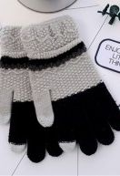 Cheapest Gloves Warm Winter Style for Touch Screen Separated Fingers Knitted Color Block Unisex Gloves