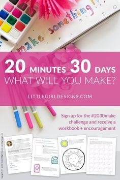 Want to join a really fun creative challenge? The challenge is just what you're looking for and will help you get back into your creative groove. Creative Challenge, 30 Day Challenge, Challenge Accepted, Filofax, Craft Projects, Projects To Try, Craft Ideas, Diy And Crafts, Arts And Crafts