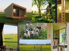 Friesland-Bijzonder huisje op natuurcamping nabij Lauwersmeer-met bedstee voor 2x 2 personen-gezellige overdekte vuurplaats-65 euro per nacht.- Itdreamlan