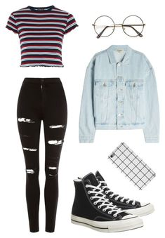"""Grunge JJ"" by nurgispert on Polyvore featuring Topshop, Yeezy by Kanye West and Converse"