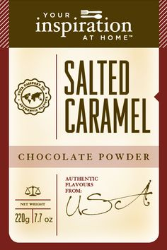 Salted Caramel Chocolate Powde  Modern classic great for lattes, cheesecakes, hot chocolate, brownies, mousse or dust over your favourite dessert.Shopping Cart www.lindapanko.yourinspirationathome.com.au