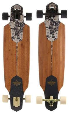 """Dusters Drop Through Channel Sepia Longboard 9.375"""""""" X 38"""""""" FREE USA SHIPPING"""