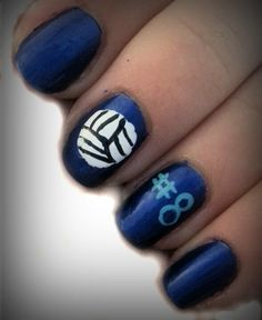 My nails I did for volleyball pictures:)