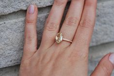 Rose gold engagement ring Jasmine sapphire oval by EidelPrecious