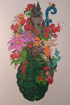 Doodle Invasion #doodleinvasion #coloringforadults