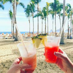 Cheers from Riu Palace Cabo San Lucas - All Inclusive drinks by the beach - Los Cabos, Mexico