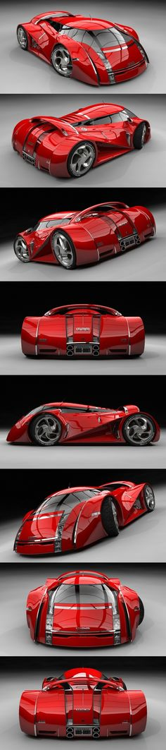 Concept Car Rouge / UBO. Now thìs is a real concept car: something radical different, i Love it