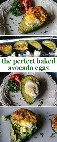 How to make the perfect baked avocado eggs - easy breakfast recipe!