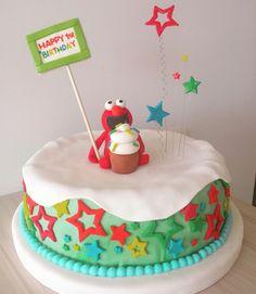 ELMO  #TortasPersonalizadas #ElmoCake @Dulcycandy  Fiestas temáticas #TortaElmo