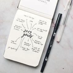 Likes, 7 Comments - Gigi Bullet Journal Goals Layout, Bullet Journal Headers, Organization Bullet Journal, Bullet Journal Notebook, Bullet Journal Inspo, Bullet Journal Spread, Bullet Journals, Bujo, Kalender Design