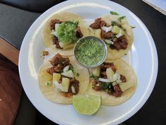Tacos al Pastor - Mexican street food fresh and all home made.